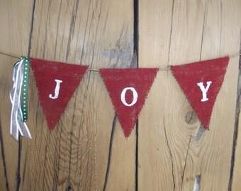 Burlap Joy Bunting