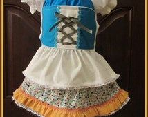 Boutique custom handmade pageant girls Hansel or Gretel Swiss Alps Yodeling German Dutch Costume