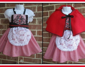 Little Red Riding Hood Costume, Little Red Riding Hood dress, Vintage Little Red Riding Hood