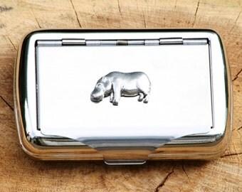 Hippo Hand Rolling Tobacco Cigarette Tin Safari Nature Gift