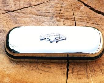 Mirror Carp Metal Pen Case & Ball Point Set Personalisable Gift