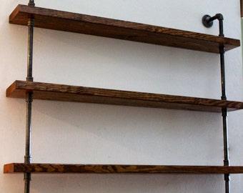 Wood Shelving Unit, Wall Shelf, Industrial Shelves, Rustic Home Decor