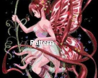 Fairy #5. Cross Stitch Pattern. PDF Files.
