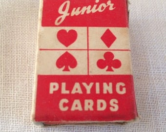 vintage miniature deck of cards
