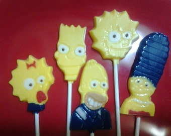 The Simpsons Chocolate Lollipops