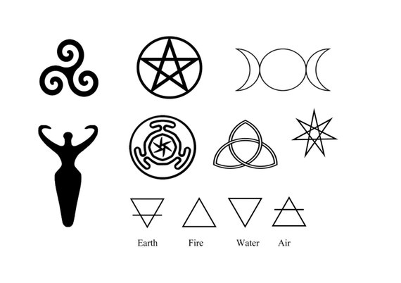 Coloring Book Album Meaning : Pagan Symbols Body Art Goddess Symbol Wiccan Symbols Etsy