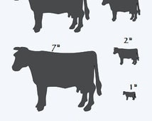 "Primitive**COW STENCIL with 8 total** Sizes 1""-8"" Farm Country Veterinary Kitchen for Painting Signs, Airbrush, Crafts, Wall Decor"