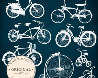 Vintage Bicycle Silhouette Clip Art - 16 images included! Bicycle Clipart, Bicycle Bike Clip Art, Bicycles Clipart, Bicycle Vectors,