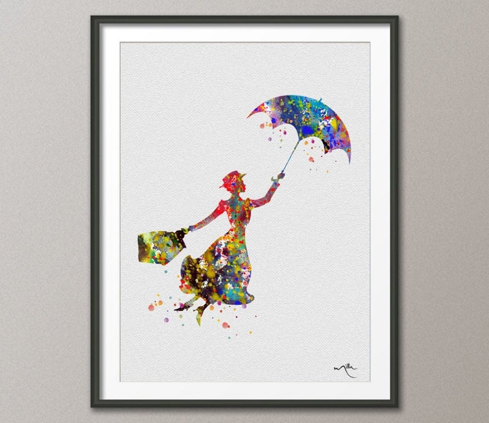 Home Decor Art quote printable wall art do small things with great love printable quote home decor wall print Mary Poppins Inspired Watercolor Illustrations Art Print Wall Art Poster Giclee Wall Decor Art Home Decor