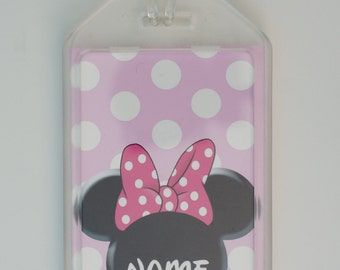 Customized luggage tag/ bag tag/ ID tag of minnie mouse