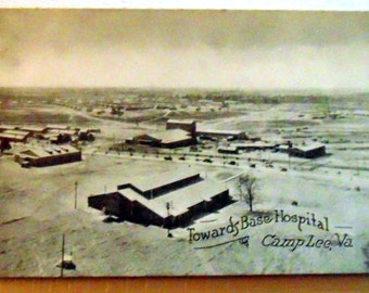 """WWI Postcard RPPC """"Towards Base Hospital"""" Camp Lee, VA in Excellent Condition"""