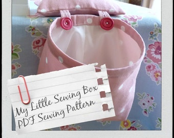 Thread Catcher Pattern - PDF Pattern and Tutorial / Sewing Caddy / Scrap Caddy with Detachable Pin Cushion