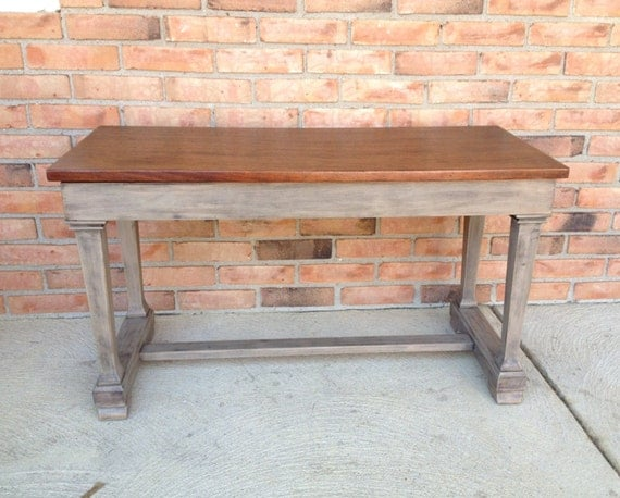Vintage Piano Bench With Storage Stained Mahogany Top