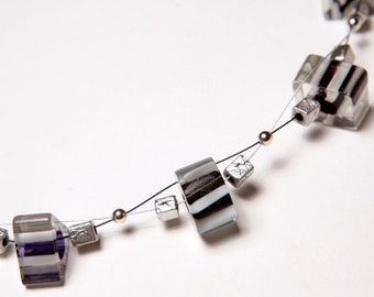 Black 'n' White Multi-Strand Necklace