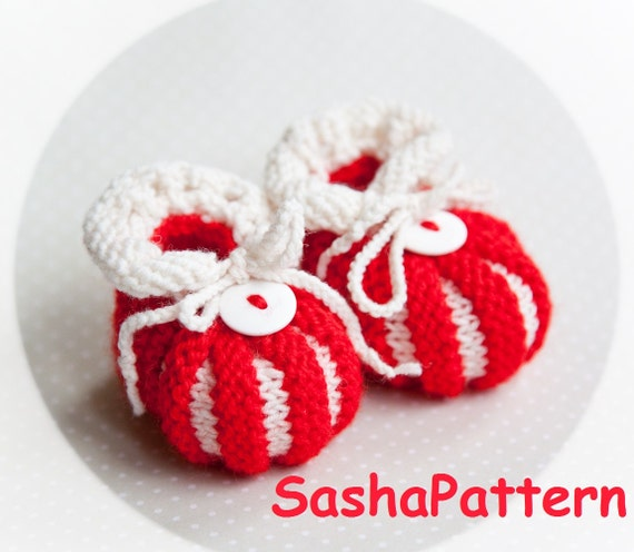 Christmas Baby Booties Knitting Pattern : Baby Booties Knitting Pattern Baby Shoes Pattern Candy