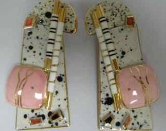 handcrafted glazed porcelain earrings