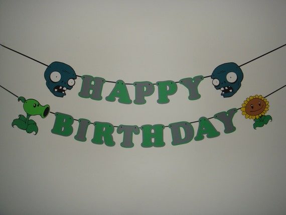 Zombies Happy Birthday Party Wall Decoration Banner By