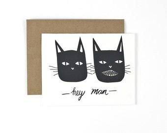 Hey Man, Handmade Greeting Card