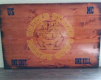 """Marine Corps """"The Title"""" Sign"""