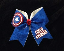 "3"" Cheer Bow Captain America"