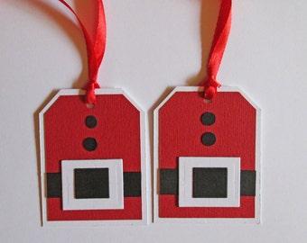 Santa Suit Christmas Gift Tags, Christmas Tags, Christmas Favor Tags, Christmas Hang Tags, Holiday Gift Tags