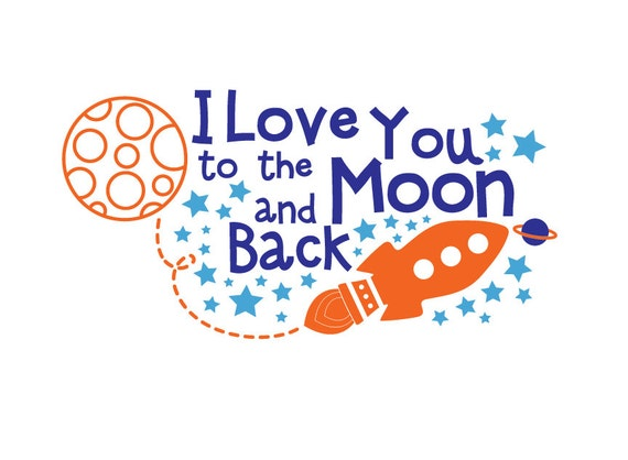 Rocket Decal Space Decal I Love You To The Moon And Back