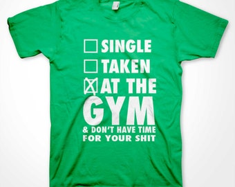 At the GYM No Time For your Sh*t T-shirt funny workout sports gym shirts