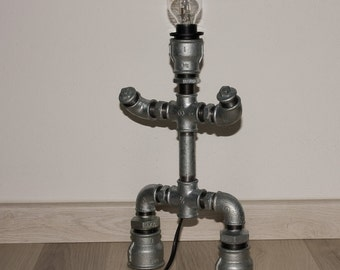 Robot Table Lamp - Industrial style Pipe Lamp