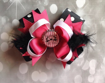 Bowdacious Lil Diva stacked boutique bow