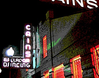 Art Print of The Cains Ballroom