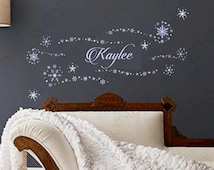 """Personal Frozen Decals With YOUR CHILD'S NAME - Birthday Banner or Bedroom Decor 30"""" Assembled - 6 bonus decals"""