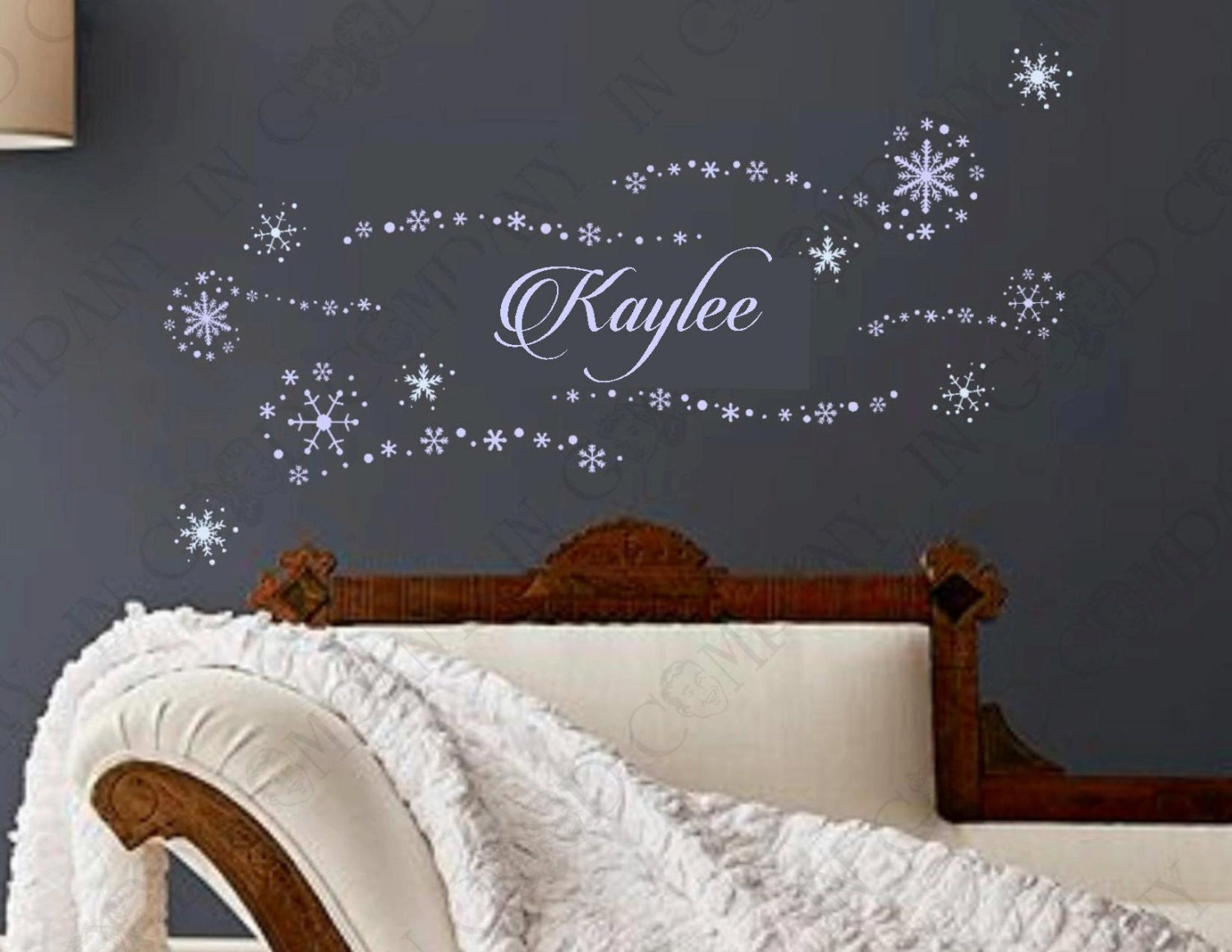 Personalized Bedroom Wall Decor : Personal frozen decals with your child s name birthday