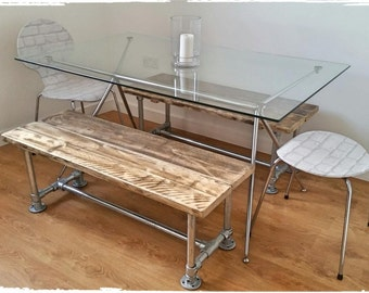 Industrial Style Reclaimed Scaffold Bench