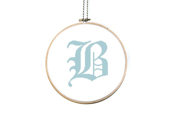 Items Similar To Letter B Cross Stitch Pattern Alphabet