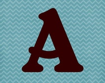 Blue and brown chevron Forever Banner.  Digital Download.  Download now, use forever!