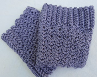 Reversible Lavender Boot cuffs