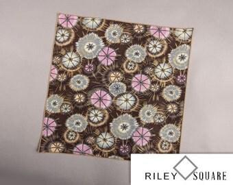 Brown, Lavender and Gray Pocket Square/Handkerchief/Fashion Accessories