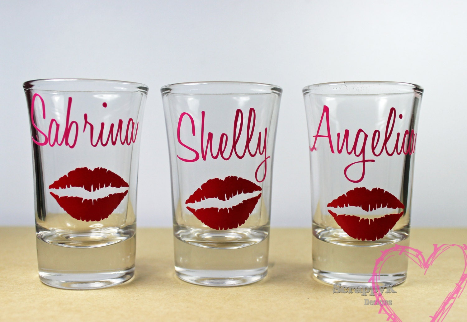 personalized wedding shot glass bridal party shot glasses for