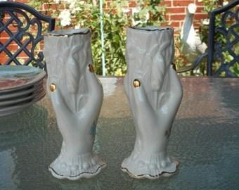 Vintage Set of Hand Vases