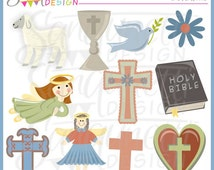 Primitive Faith Christian Religious Clipart Commercial License Included