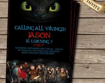 How to Train Your Dragon 2 Birthday Invitation, Printable Invite, Dragons 2 invitation, Custom Digital Invite