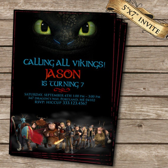 How to train your dragon 2 birthday invitation printable like this item ccuart Image collections