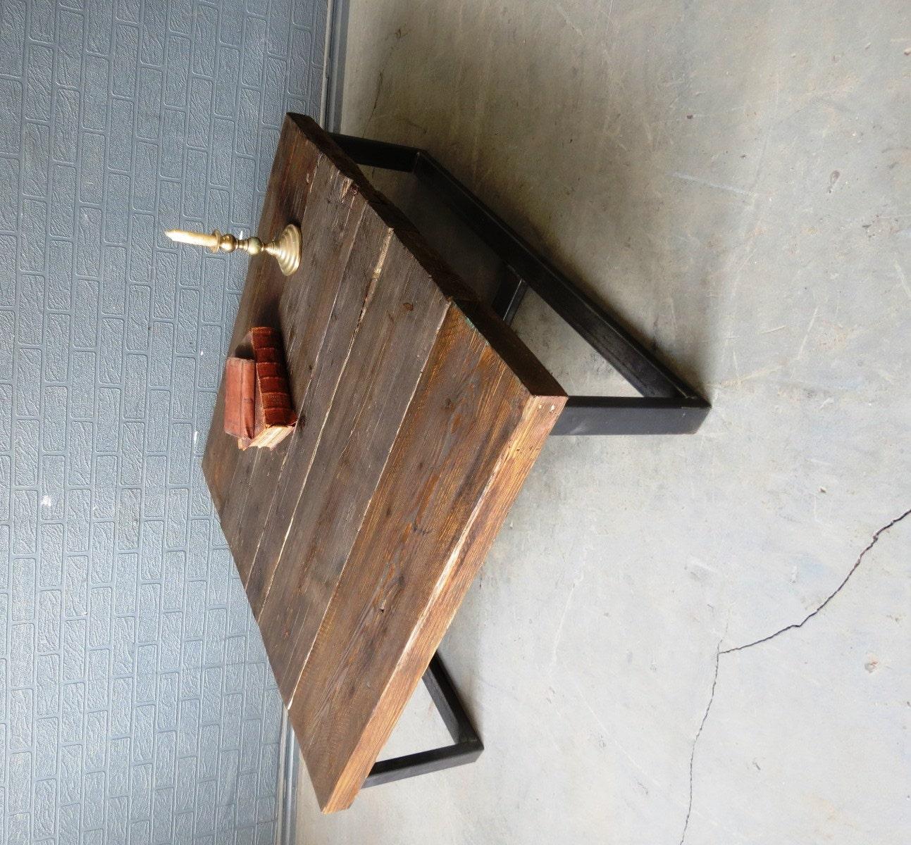 Industrial Unique Metal Designer Coffee Table: Industrial Chic Style Reclaimed Custom Coffee Table 036 Steel