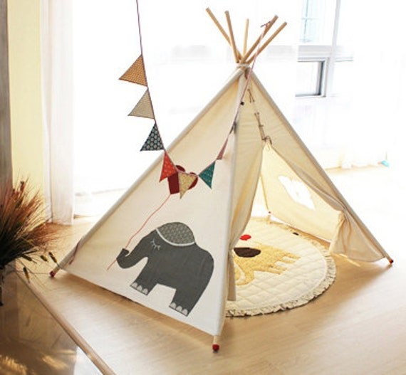 hnliche artikel wie soabe elefant tipi tipi kinder. Black Bedroom Furniture Sets. Home Design Ideas