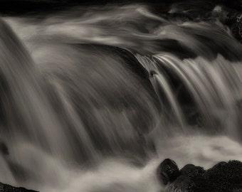 Landscape Photography, Waterfall, Art, Fine Art Photography, Black and White, Monochrome, Nature, Wall Art, Wall Decor, Home Decor