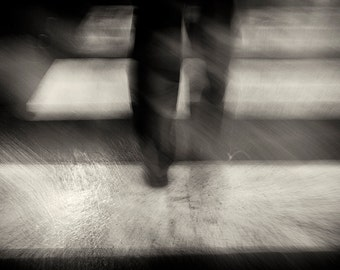 Abstract Photography, Street, Legs, Travel, Urban, Italy, Parma, Rain, Fine Art, Black and White Photography, Wall Art, Home Decor