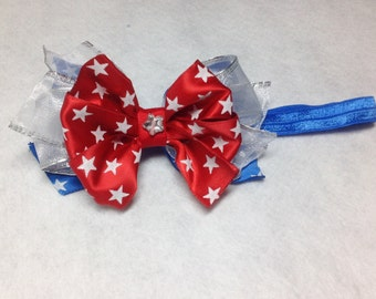 Patriotic Headband/Bow for your little Princess.