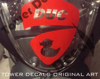 "Ducati ""DUC"" Rubber Ducky Logo Vinyl Decal"