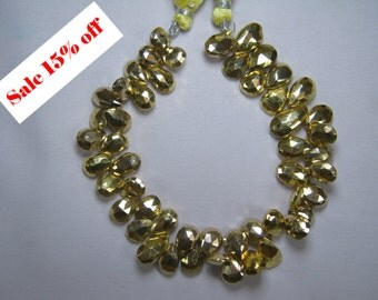 Natural Pyrite Briolette Beads