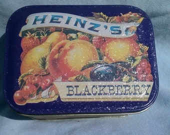 Vintage Heinz's Blackberry Jelly Decorative Tin Box Made In 1985 Tin Box Company